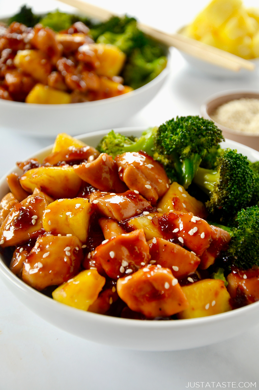 Sheet Pan Pineapple Chicken and Broccoli