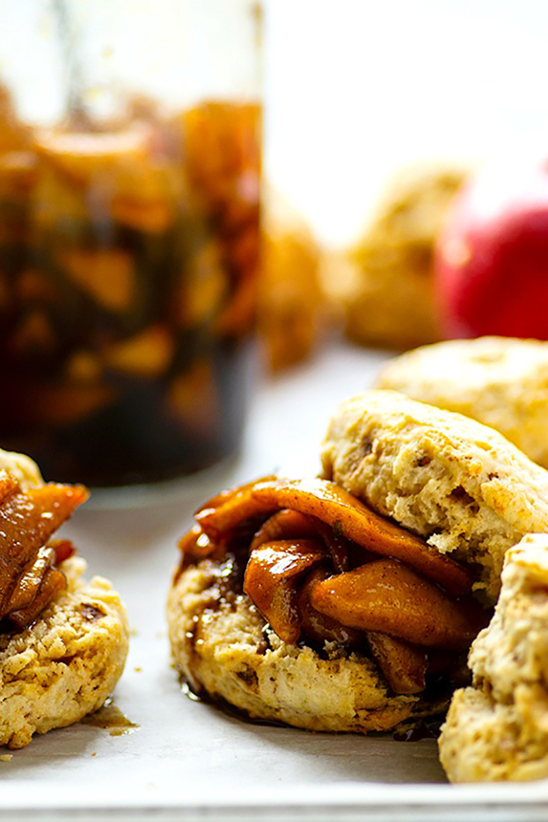 Browned Butter Biscuits with Apple Preserves