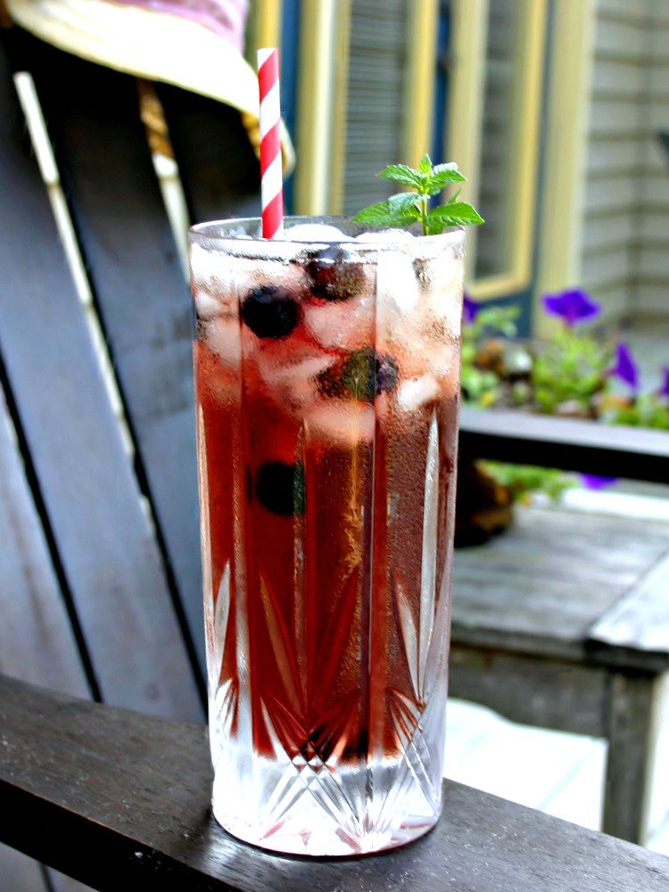 Blueberry Mint Iced Tea