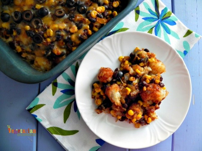 Mexican Tater Tot Casserole – Tots never go out of style on the dinner table!