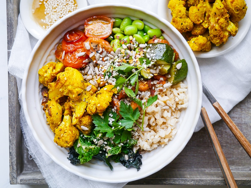 Roasted Turmeric Cauliflower Buddha Bowls