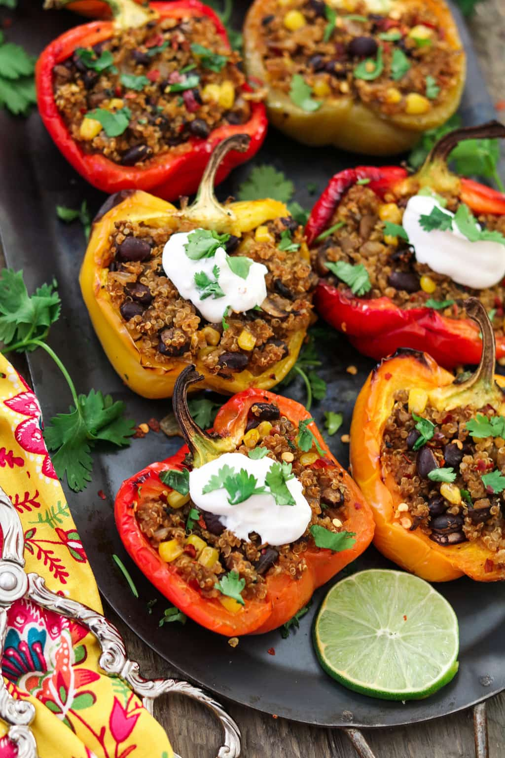 Santa Fe Quinoa Stuffed Peppers (Vegan + GF)