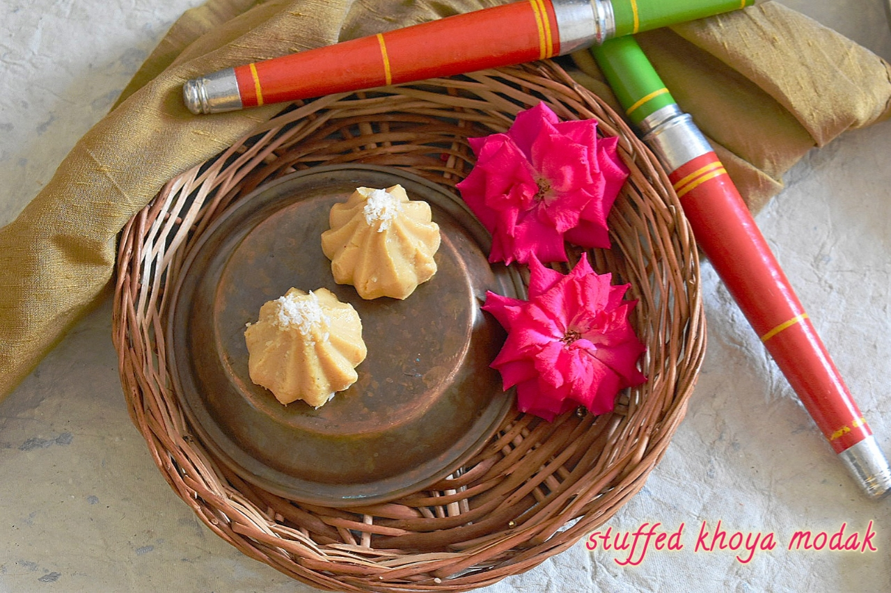 Stuffed Khoya Modak | Mawa Modak Recipe | How to Make Modak